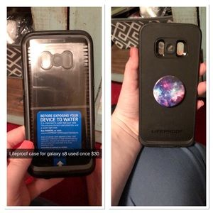 Lifeproof iPhone X case with grip on back